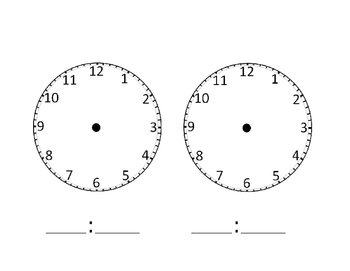 Clocks (without hands)