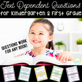 Close Reading- Text Dependent Questions- ANY book! -Kinder