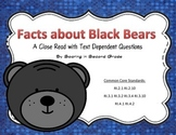 Close Read With Text Dependent Questions Black Bears Nonfi