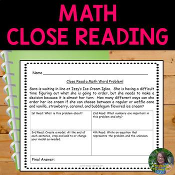 Close Read a Math Problem