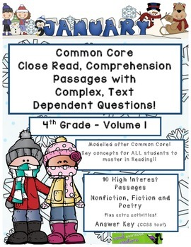 January 4th - Common Core Close Read with Text Dependent C