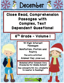 December 6th (V1) Common Core Close Read with Text Depende