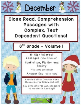 December 8th (V1) Common Core Close Read with Text Depende