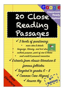 No-Prep Close Reading Passages