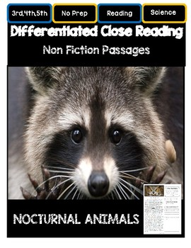 Close Reading 3rd, 4th, 5th, 6th Grade Non Fiction Passage