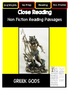 Close Reading 3rd, 4th, 5th Grade Non Fiction Passages: Gr