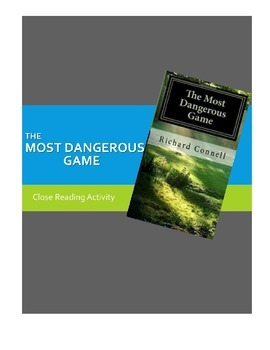 The Most Dangerous Game Close Reading Lesson