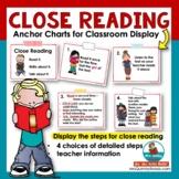 Close Reading Anchor Charts - Grades 2-4