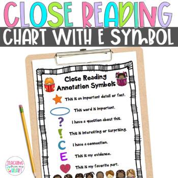 Close Reading Symbol Charts, Fiction & Nonfiction, ANY Top
