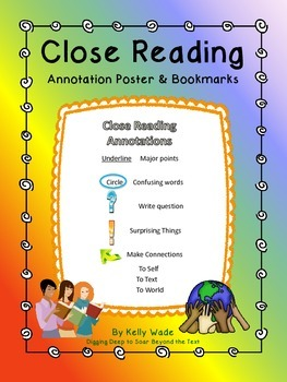 Close Reading Annotations ~ FREEBIE