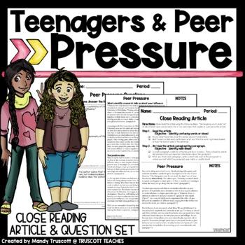 "Close Reading Article ""Peer Pressure"""