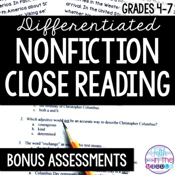Close Reading - BONUS Assessments