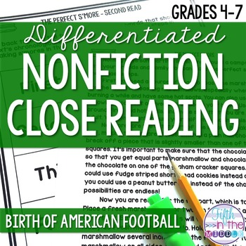 Close Reading - Birth of American Football