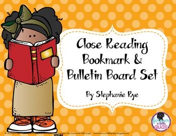 Close Reading Bookmark & Bulletin Board Set