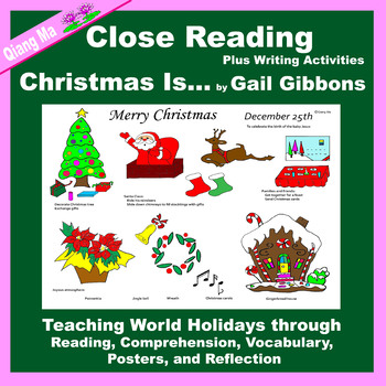 Close Reading: Christmas Is ...