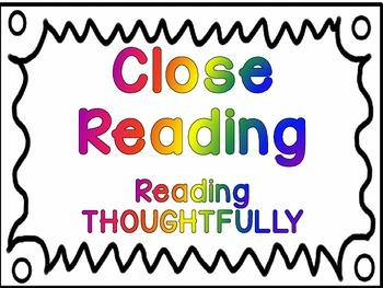 Close Reading Classroom Posters