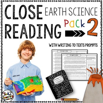 Earth Science Reading Passages and Writing Prompts PACK 2