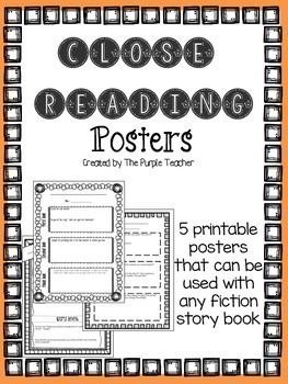 Close Reading Posters
