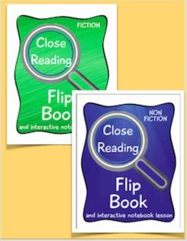 Close Reading Flip Book/Interactive Notebook Lesson Bundle
