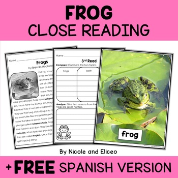 Close Reading Frog Activities