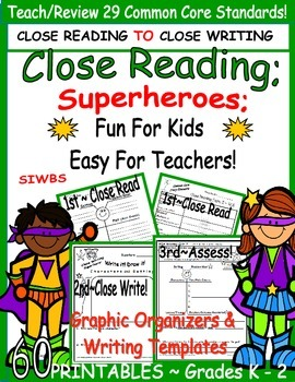 Story Elements; Close Reading;Fun for Kids~Easy for Teache