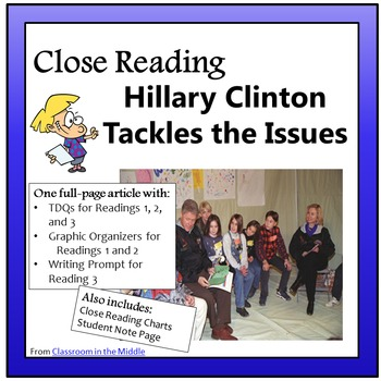 Close Reading - Hillary Clinton