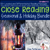 Close Reading Holiday and Winter Bundle