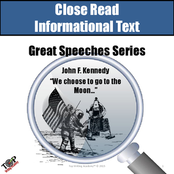 "Close Reading Nonfiction ""Great Speeches"" John F. Kennedy"