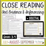 Close Reading - July, August, September