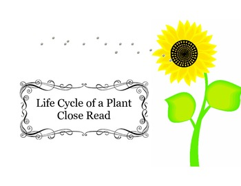 Close Reading ~ Life Cycle of a Plant: Expository Text Response