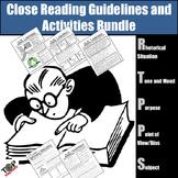 Nonfiction Close Reading Lessons Activities Bundle
