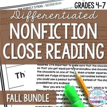 Close Reading - Fall Bundle {August-November}