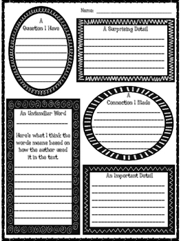 Close Reading Organizer for Any Piece of Text