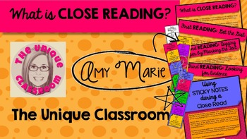 Close Reading Pack with Bookmarks and Tips
