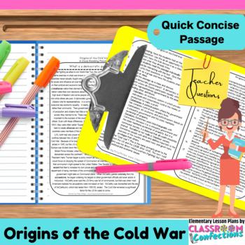 Cold War: Reading Passage