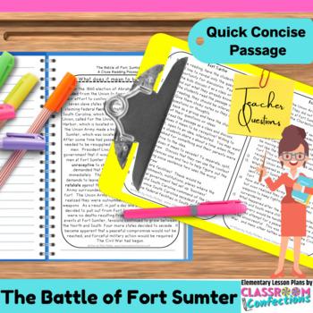Fort Sumter: Non-Fiction Reading Passage