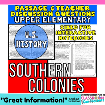 Southern Colonies: Non-Fiction Reading Passage