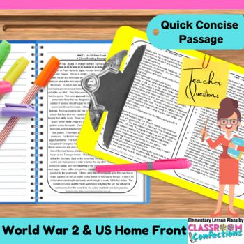 World War 2 - WWII - World War Two Home Front