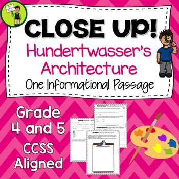 Close Reading Passage w/ Text Dependent Questions - Hunder