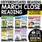 Close Reading Passages - March-Themed - Differentiated Rea