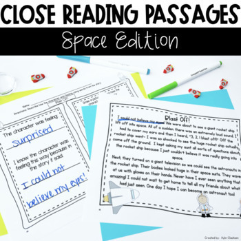 Close Reading Passages: Space Edition