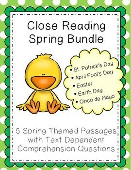Close Reading Passages - Spring Bundle