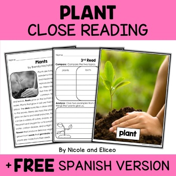Close Reading Plant Activities