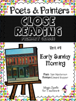 Close Reading Poetry and Art - Early Sunday Morning - Hopp
