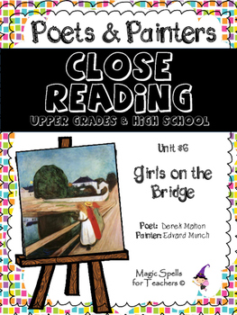 Close Reading Poetry and Art - Girls on the Bridge - Munch