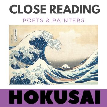 Close Reading Poetry and Art - The Great Wave - Hokusai -