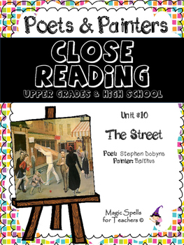 Close Reading Poetry and Art - The Street - Balthus - Unit