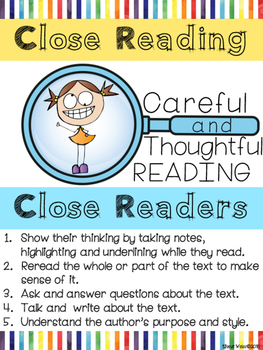 ELA POSTER: Close Reading