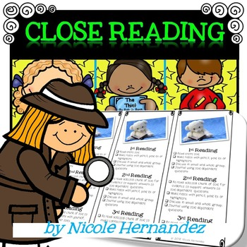 Close Reading Posters Boomarks and Student Sheets