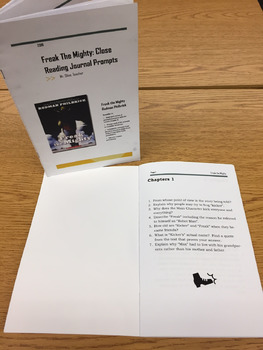 Close Reading Prompts for Novel Freak the Mighty